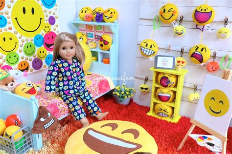 emoji room american girl doll emoji room haul youtube