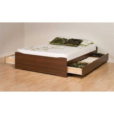 Platform Bed With Drawers by Platform Storage Bed With 6 Drawers In Walnut Lbx Xx00 3kv