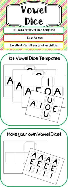 printable vowel dice this is the phonics flip book and there is also a word