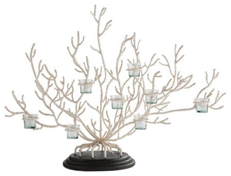 coral votive tree tropical candleholders by wisteria