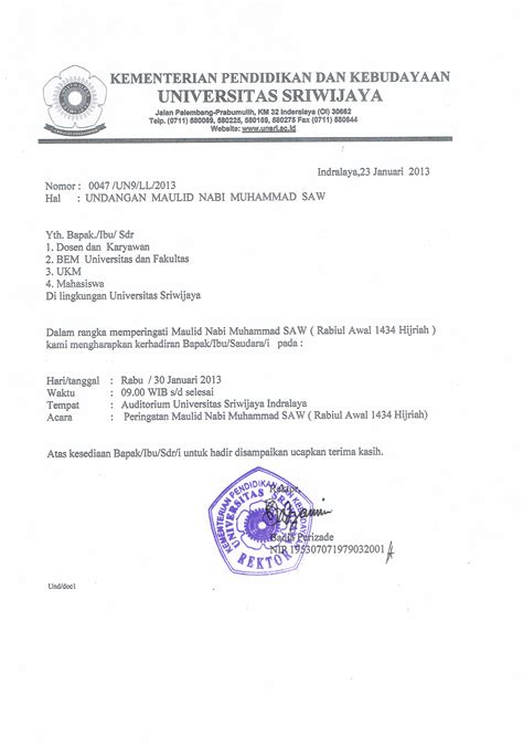 detil pengumuman universitas sriwijaya indralaya sumatera selatan