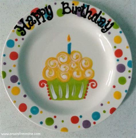hand painted ceramic quot happy birthday quot plate 9 quot