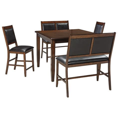 ashley furniture dining bench signature design by ashley meredy 5 piece dining room