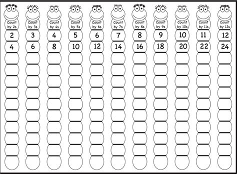 printable worksheets counting by 2 5 10 skip counting by 2s 5s and 10s worksheets worksheets for