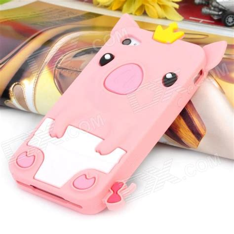 Iphone 55s5se 3d Piggy Pig Silicon pink protective 3d crown pig silicone for iphone 4 4s