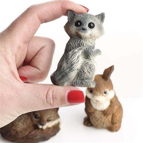 small animal figurines for crafts miniature forest animal figurines set of 3 garden miniatures dollhouse miniatures