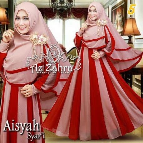 Aisyah Set Syari aisyah 5 baju muslim gamis modern