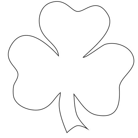 shamrock template outline clipart best