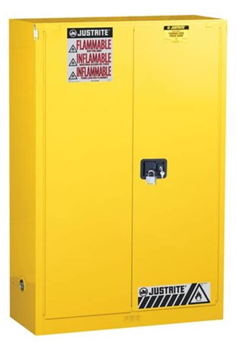 justrite flammable safety cabinet 90 gal yellow 899020