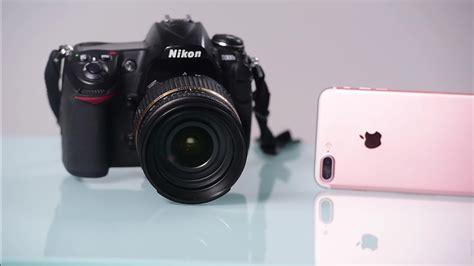 iphone    dslr camera comparison video