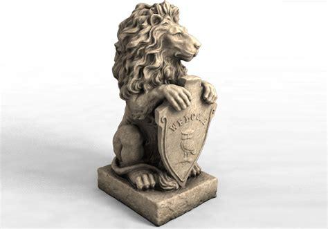 models garden statue lion    model