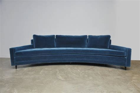 Curved Front Sofa Harvey Probber Pair Of Curved Front Sofas For Sale At 1stdibs