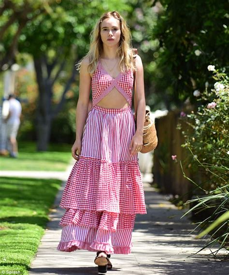 Suki Dress Maxi Bonita Navy suki waterhouse shows toned midriff in maxi dress