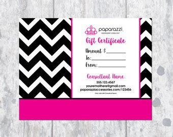 Bizzy B Design On Etsy Handmade Hunt Paparazzi Gift Certificate Template