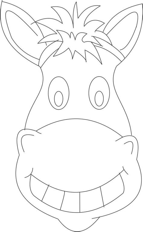 printable animal masks to color horse mask printable coloring page for kids kids crafts