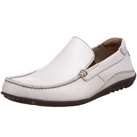 image white leather s driving shoes