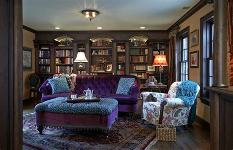 Cozy Livingroom by Old English Library Traditional Living Room Portland