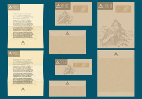 Memo Template Vector rustic letter and envelope templates free