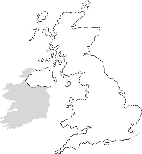 Britain Counties Outline Map by Blank Map Of Uk Pdf