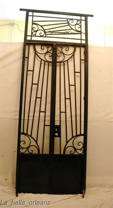 art deco ls for sale art deco french wrought iron gate with frame transom for