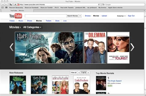 film online youtube youtube boosts movie rentals with over 3 000 hollywood