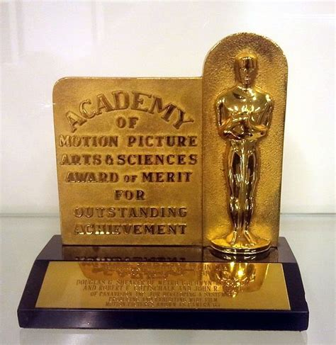Oh Those Early Oscar Nominations by Douglas Shearer S 1960 Technical Academy Award Plaque