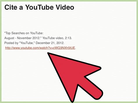 Apa Style Format Youtube Video | 4 ways to cite a youtube video wikihow