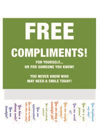 take a compliment 50 posters to pin and free compliments poster printables