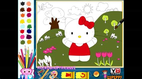 hello kitty coloring pages youtube hello kitty online color pages hello kitty coloring