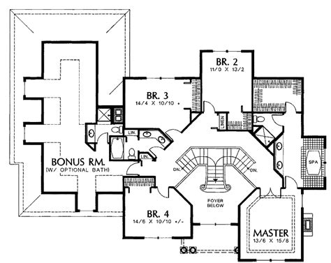 two staircase house plans showing double staircase floor plans house plans 40063