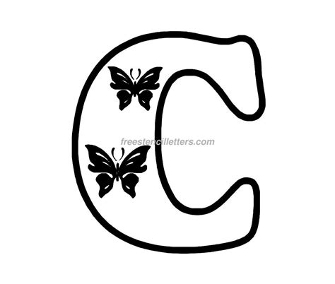 best photos of large letter c template free printable