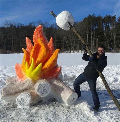 snow sculptures creating fun outdoor decorations  winter