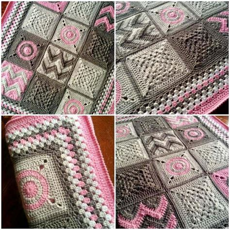 Crochet Patchwork - free knitting pattern for patchwork baby blanket
