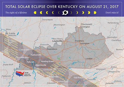 kentucky map eclipse 2017 total solar eclipse in kentucky