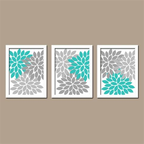 grey and turquoise bathroom turquoise gray wall art bedroom pictures canvas or