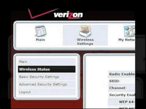 how to reset verizon router network how to change your wireless network name and password on