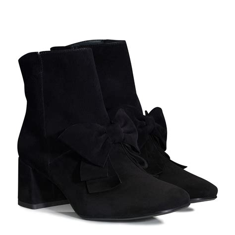 black ankle boots with bows paul green