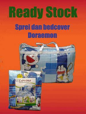 Sprei Katun Jepang 90x200 Doraemon Kotak pojok sprei