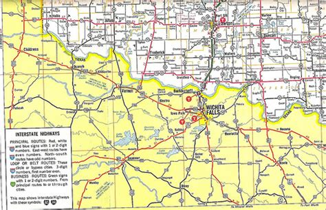 texas and oklahoma map us 62 across southwest oklahoma 1966 flickr photo