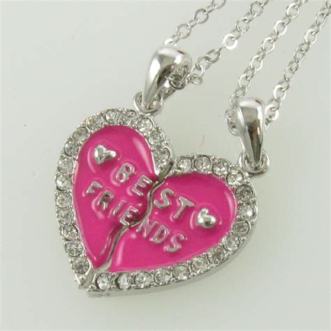 necklace s day pink pendant bff
