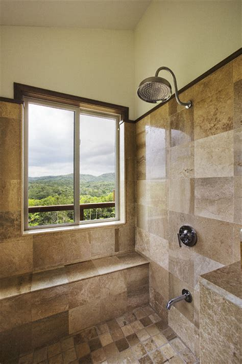 rain shower bathroom belize residence rain shower tropical bathroom
