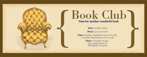 book club invitation template invitations free ecards and planning ideas from evite