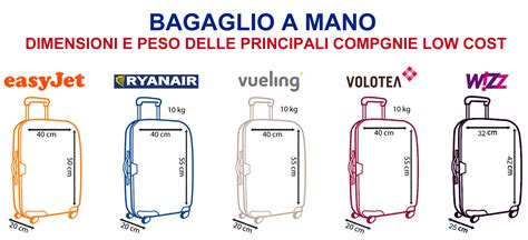 dimensioni bagaglio cabina il bagaglio a mano delle compagnie aeree low cost