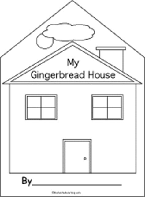 printable gingerbread house cutouts printable books for kids early to fluent readers
