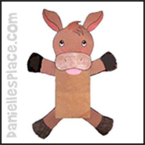 paper bag donkey pattern puppet crafts kids can make