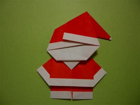 Santa Origami - origami santa claus craft for parenting times