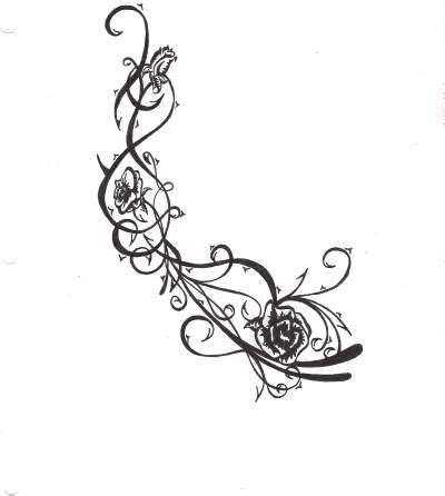 black rose with thorns tattoo roses and thorns pen ink about nature