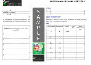 Performance Scorecard Template by Human Resources Templates Construction Templates