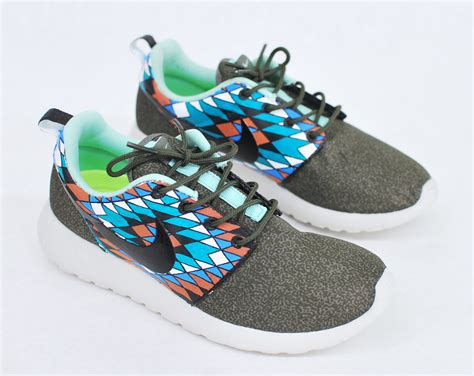 Tribal Pattern Nike Roshe | custom hand painted nike roshe run tribal pattern by