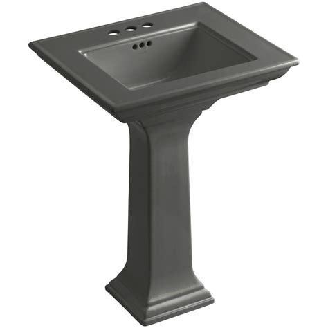 kohler thunder grey sink kohler memoirs stately ceramic pedestal bathroom sink